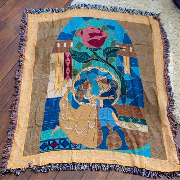 Authentic Beauty And the Beast Tapestry